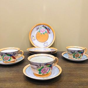 Vintage Tea Set -Hand Painted -Made In Japan